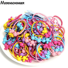 50PCS/Lot 3.0CM Lovely Stars Children Hair Ties Cute Rubber Bands Ponytail Elastic Band Rope Cartoon Accessories