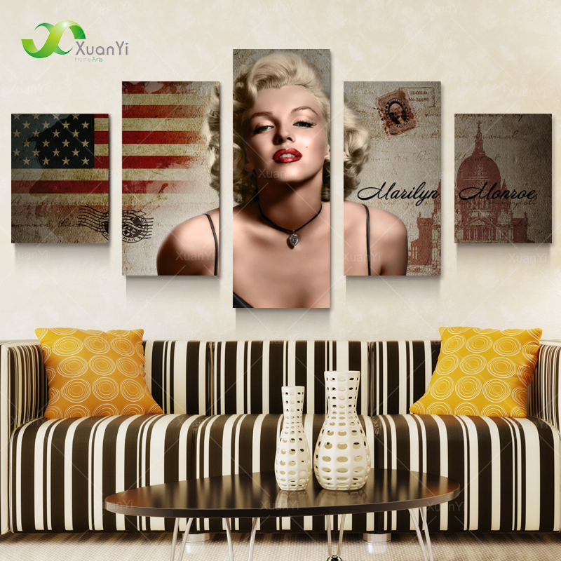 Marilyn Monroe Figure Canvas Oil Painting Wall Picture For Living Room Home Decoration Art Modern