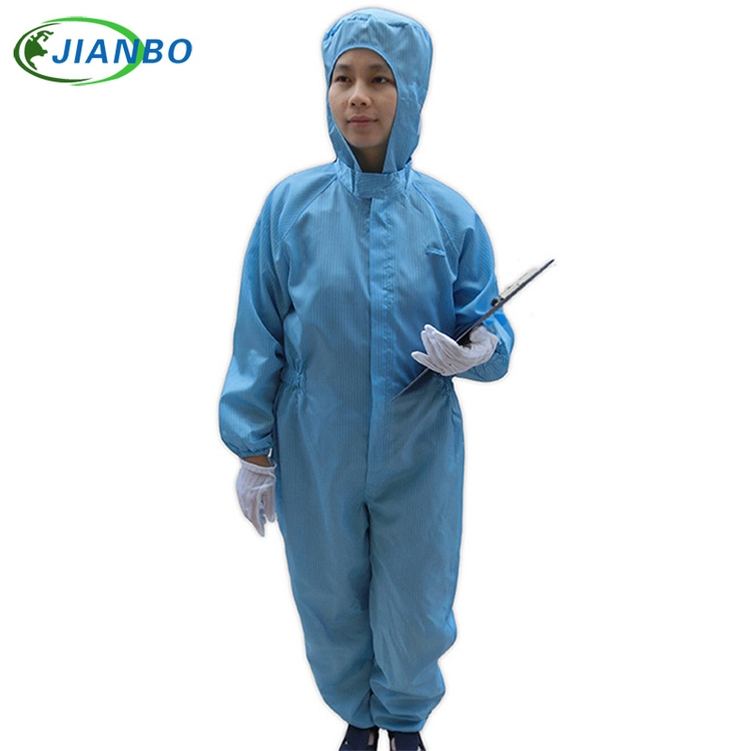 Protective Overalls Safety Clothing Anti Static Hooded Jumpsuit Suits Food Cleanroom Workshop ESD Dustproof Working Clothes 500 grams about 750pcs milky latex rubber powder free working protective finger sets anti cutting cleanroom esd work gloves
