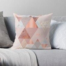 Blush Pink Geometric Pillow Covers Cases Pattern Nordic Cover Cushion Pillowcase Square Print