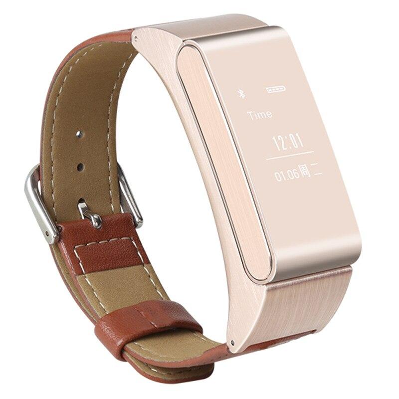 Conversa com Destacável Fone de Ouvido Monitor para Android Pulseira Banda Apoio Bluetooth Pedômetro Inteligente Sono Ios 2in1