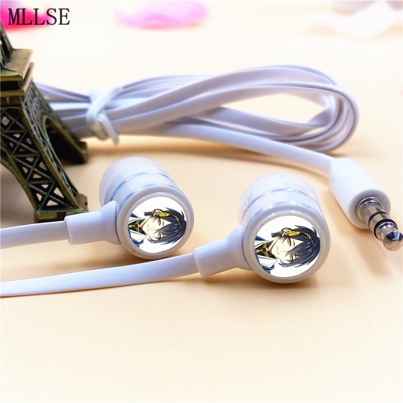 MLLSE Anime Touken Ranbu Online Mikazuki In-ear Earphone 3.5mm Stereo Earbud Phone Music Game Headset for Iphone Samsung MP3 цена