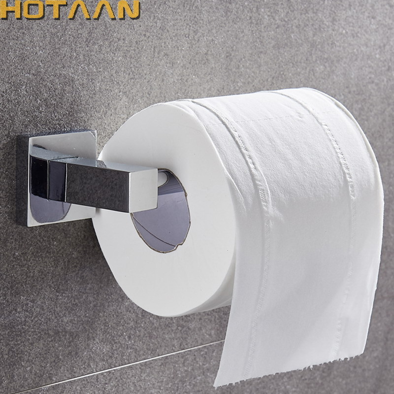 Bathroom Lavatory Toilet Paper Roll Holder Wall Mount Polished Chrome Stainless Steel YT-11392-S