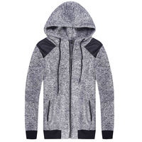 Hiphop Autumn Men's Hoodies Sweatshirts Winter Men Jacket Hooded Zip Up Knitted Casual Sweats Hoody Fashion Sweatshirt Hombre