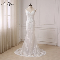 Luxurious Ball Gown Lace Wedding Dresses 2016 New Off The Shoulder Long Sleeves Chapel Train Tulle