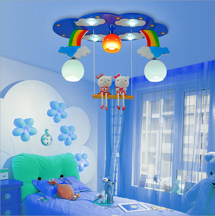 Superieur Modern Cartoon Ceiling Light Kids Bedroom Bulb Light Fittings Led Lamp For Children  Room Lighting Girlu0027s Room Pink/blue Color In Ceiling Lights From Lights ...