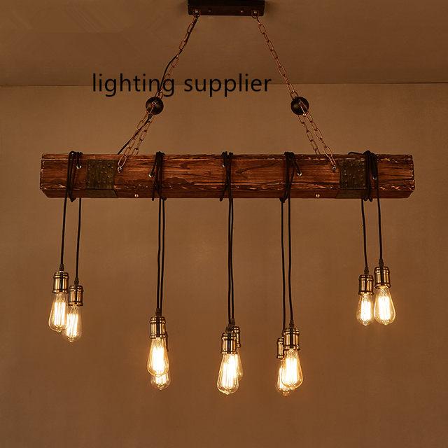 Online Shop Stile Loft Creativo di Legno Droplight Edison Luce Del ...