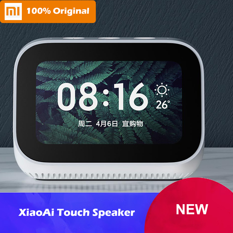 Original Xiao mi AI écran tactile Bluetooth 5.0 haut-parleur affichage numérique réveil WiFi Smart Connect mi sonnette et caméra