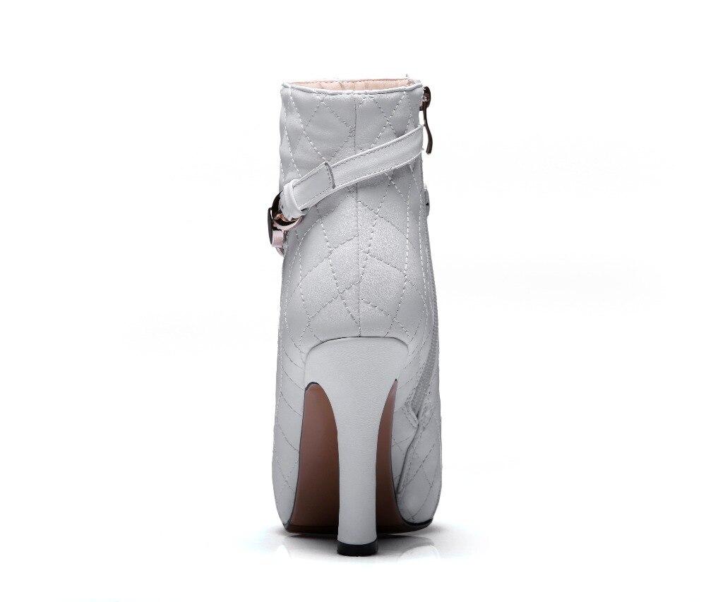 Alto blanco Tacón Las Sfbenz Mujeres Tamaño Cm Negro Plataforma Mujer Genuino 2018 De Invierno 10 Nuevo Bottes Botines Europa Más Cuero Femme x818wqYz