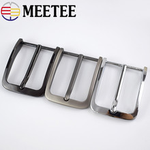 Meetee 5pcs 40mm Mens Alloy Metal Belt Buckle Head DIY Casual Business Leather Craft Clothes Decoration Accessories BD378