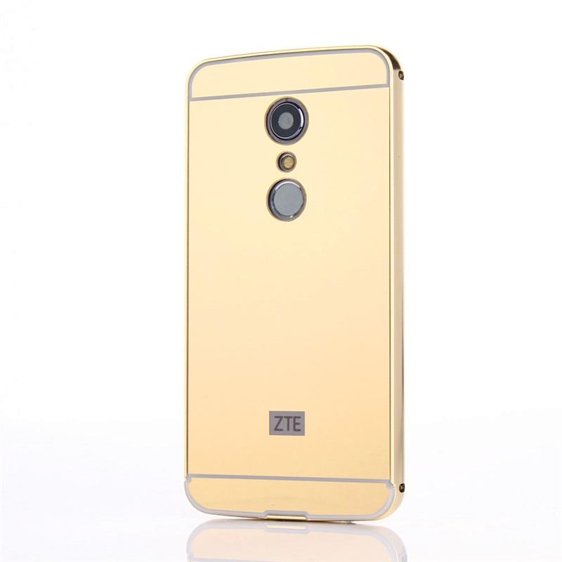 ZTE Axon 7 2017 Case Case Plating Metal Frame with Mirror Effect - Բջջային հեռախոսի պարագաներ և պահեստամասեր - Լուսանկար 2