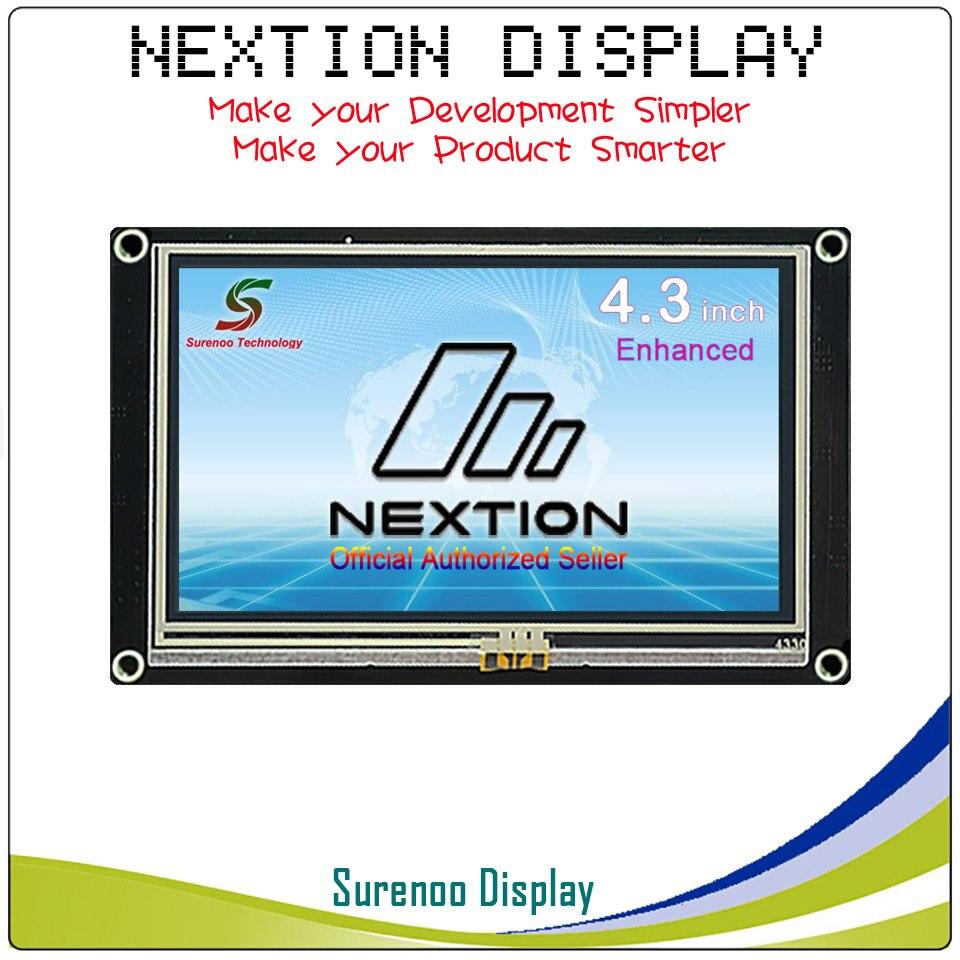 4,3 Nextion Enhanced HMI умный USART UART серийный сенсорный TFT ЖК дисплей модуль дисплей Панель для Arduino наборы Raspberry Pi