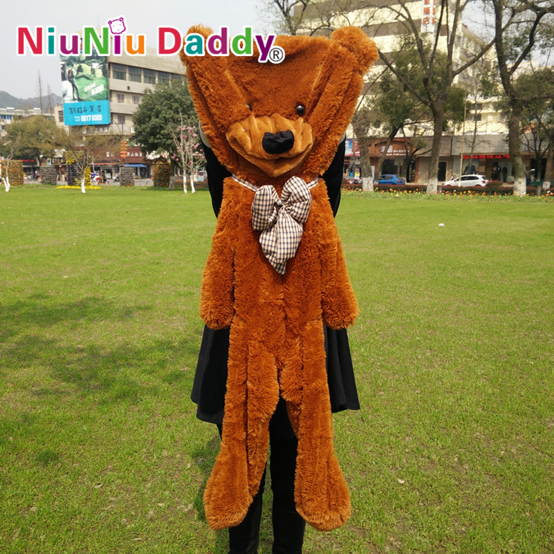 Niuniu Daddy 120cm/47.5 inch,Plush Bear Skin,Semi-finished Teddy Bear Skin, Plush Toys, 5 color can choose,Free Shipping toy gift alvin and the chipmunks the couple plush squirrel chipmunk erwin simon theodore 6 styles can be choose free shipping