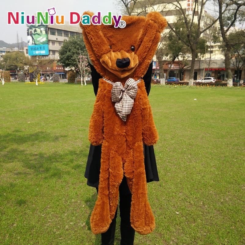 """Niuniu Daddy 120cm / 47.5 """"pulgadas, piel de oso de peluche, piel de oso de peluche semiacabada, juguetes de peluche, 5 colores puede elegir, envío gratis"""