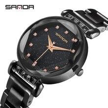 7d52b285e83 SANDA Romântico Bracelete de Diamantes Mulheres Relógios Top Marca de Luxo Mulheres  Relógio de Quartzo relogio feminino À Prova .