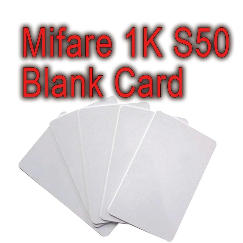 100pcs/lot rfid 13.56MHz mifare s50 classic 1k f08 f1108 fm1108 blank card hotel lock access control membership loyalty vip card loyalty