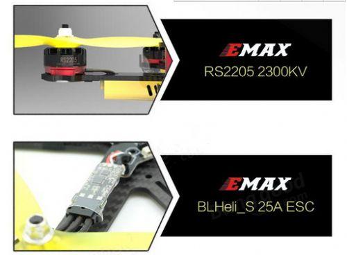Emax Nighthawk Pro 200 200mm F3 FPV Racing Drone PNP with 5.8G 48CH 25-200mW VTX 600TVL CCD Camera (5)