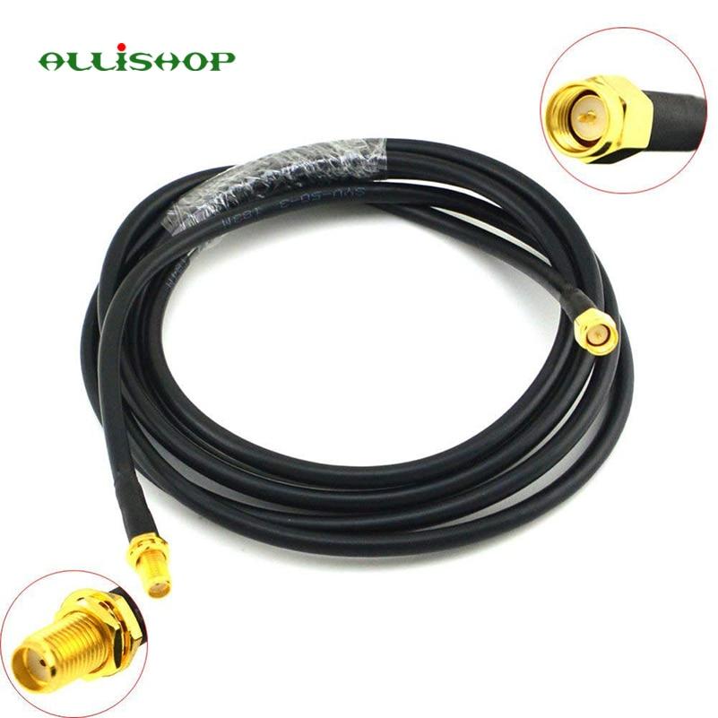 Conector SMA macho a SMA hembra extensión wifi RG58 cable macho a jack cable de antena coaxial cable 1 M 3 M y 5 M 8 M 10 M 12 M 15 M