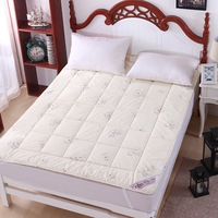Wool filled with(3kg) soft printed mattress bed protection pad mattress toppers