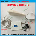 Display LCD! High Gain Dual Band Telefone Móvel 2G 4G Reforço de Sinal GSM 900 mhz DCS 1800 mhz Repetidor de Sinal Amplificador COMPLETO CONJUNTO