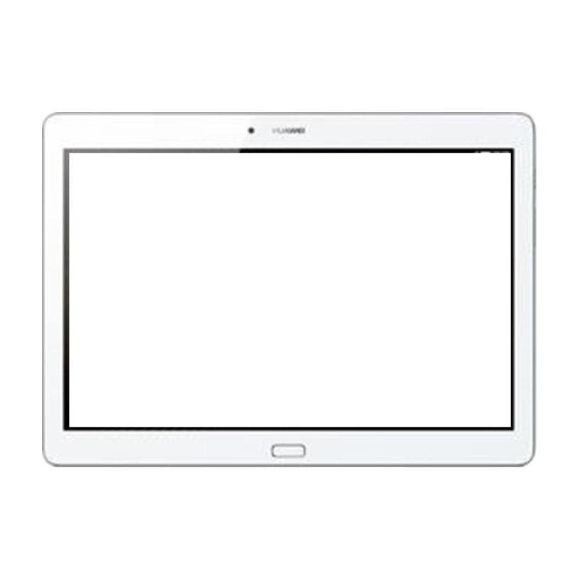 imágenes para 10.1 pulgadas de pantalla táctil blanco con digitalizador touch panel frontal exterior de la lente de cristal de piezas de repuesto para huawei mediapad m2 10.0
