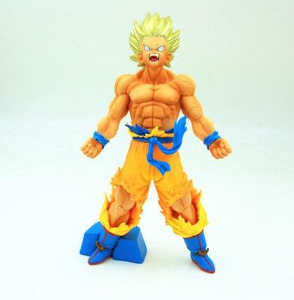 Японии аниме фигурку Dragon Ball Z DBZ крови Саян Сын Gokou светлые Ver Модель 20 см Коллекция ПВХ украшения куклы