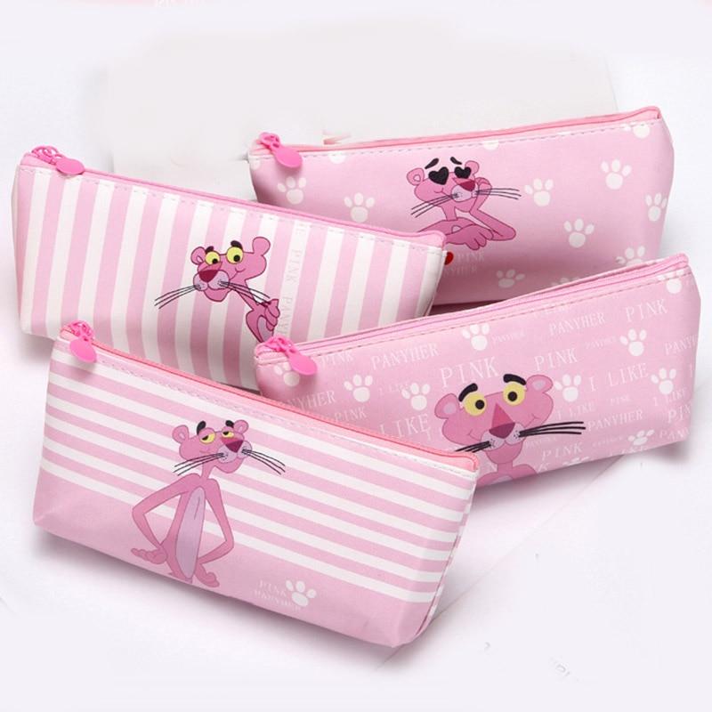 Cute The Pink PantherTransparent Travel Cosmetic Bag Women Case Waterproof Makeup Beauty Wash Organizer Toiletry Storage Kit Box