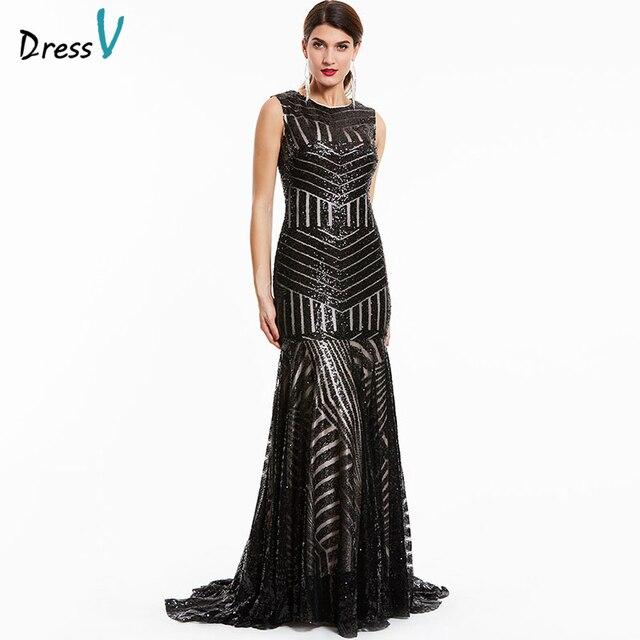 45dff54f5e Dressv czarna długa suknia tanie wycięciem bez rękawów syrenka zipper up  wedding party formalna suknia trąbka