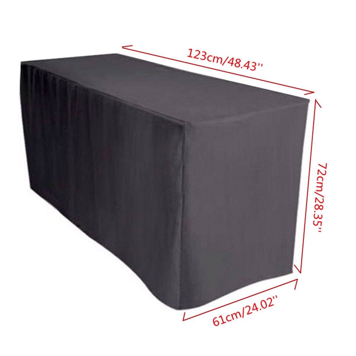 4FT Fitted Black Trestle Table Cover Polyester Folding Function Market Fair  Wedding Party Outdoor Furniture Cover Table Cloth In Tablecloths From Home  ...