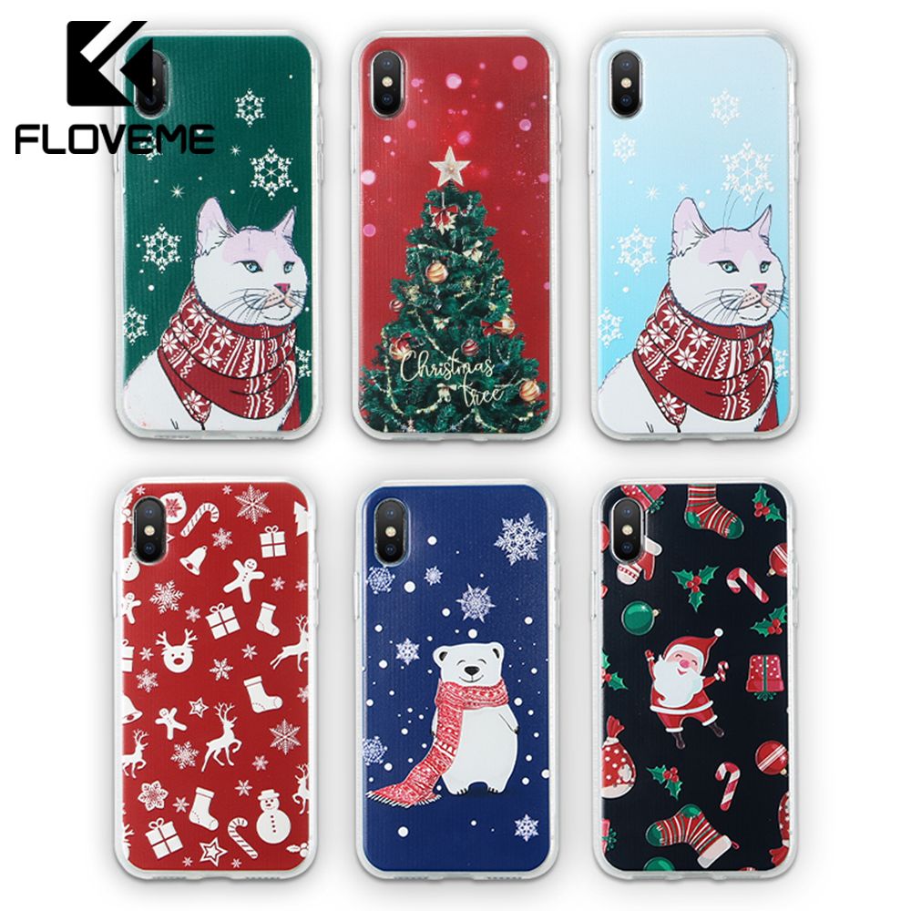 Christmas Phone Case Iphone 7.Us 1 99 49 Off Floveme Christmas Phone Case For Iphone 7 8 Plus Xs Max Santa Claus Cartoon Case For Iphone Xr 6 6s X Soft Tpu Cases Cover Coque In
