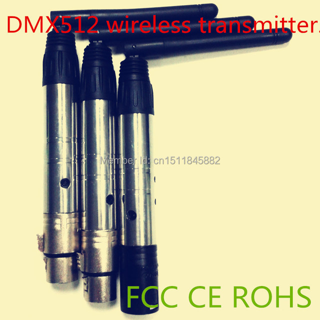 3pcs 2.4g Wifi Dj  wireless dmx512 transmitter and receiver Lighting Controller 1pc Transmitter+2pc Receivers