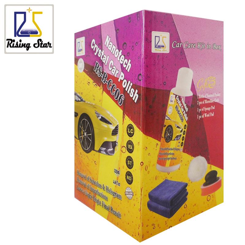Prix pour Étoile montante RS-B-CC06 Nanotech Cristal De Voiture Polonais 125 ml Kit De Polissage Pâte Peinture Soins pour Enlever Les et De Réparation Micro Scratch