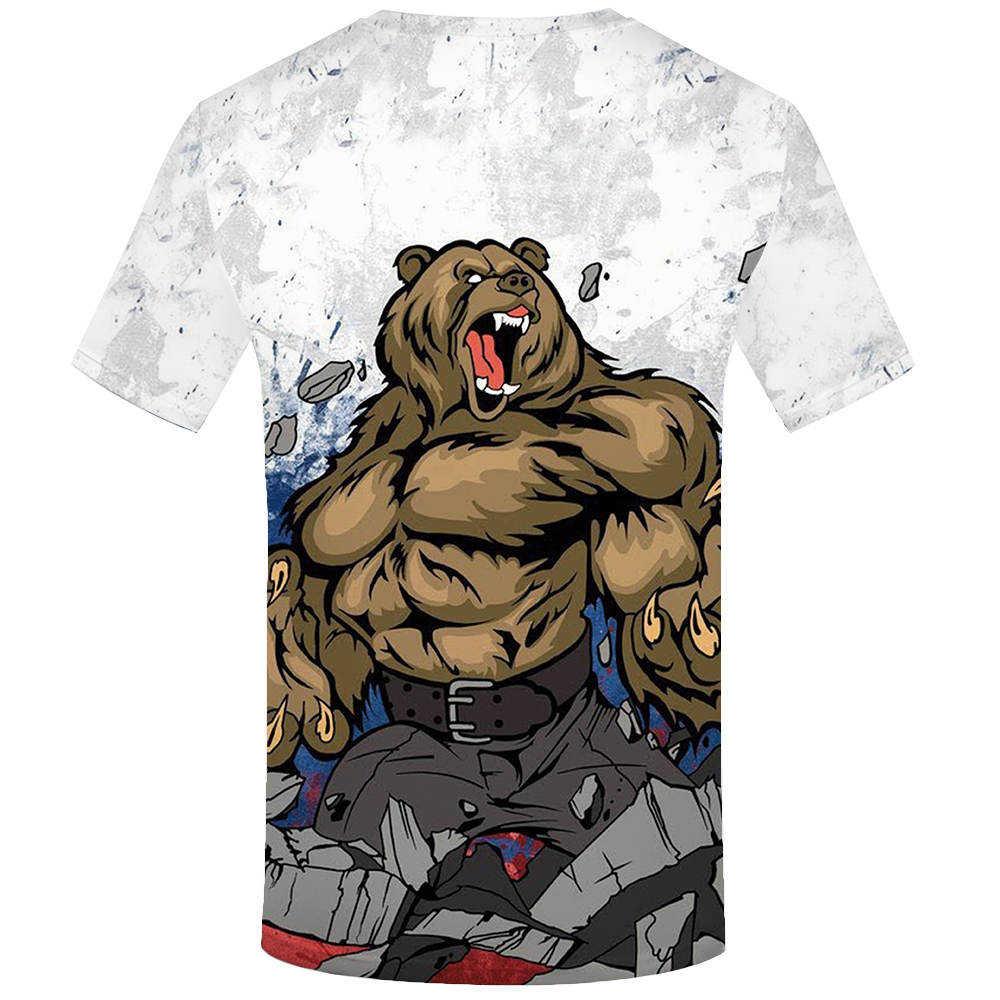 KYKU бренд Россия футболка мужская Россия футболка с флагом Медведь рубашка 3D Футболка мужская одежда Фитнес футболка рок футболки летняя одежда