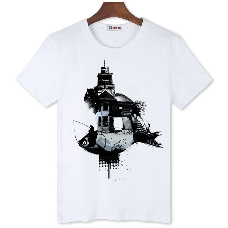 US $7 53 42% OFF|BGtomato Abstract art t shirt Brand new trend tops Fashion  tee shirt cool summer rock t shirt men cheap sale tshirt-in T-Shirts from