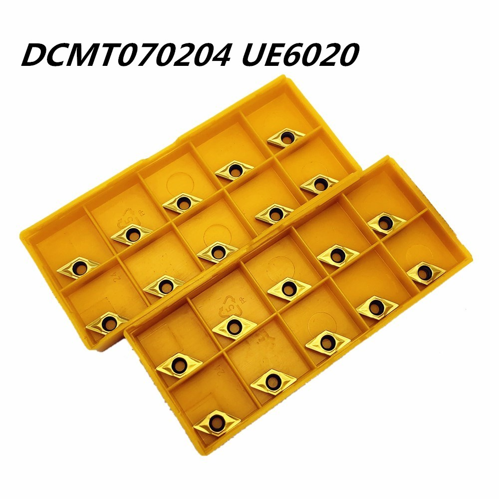 100PCS Lathe tool DCMT070204 UE6020 external turning tool high quality carbide cutting DCMT070204metal turning tool milling