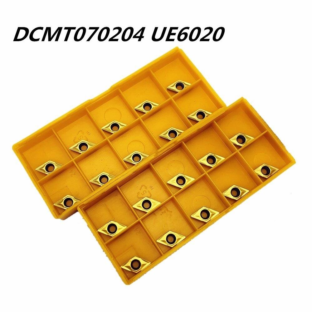 100PCS Lathe tool DCMT070204 UE6020 external turning tool high quality carbide cutting DCMT070204metal turning tool milling