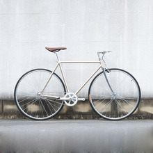 Bicicleta de carretera Retro oro 700C engranaje fijo bicicleta vintage bicicleta de una sola velocidad bicicleta 52cm bicicleta fija