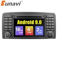 Eunavi 2 Din Car Multimedia Player Radio GPS Android 9.0 Stereo System For Mercedes/Benz/AMG R Class W251 R300 R350 R63 Wifi