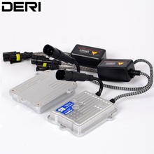 купить DERI HID Ignition Fast Bright Block Quick Start Slim Xenon Ballast Q5 55W AC 12V for Car Headlight Xenon Conversion Kit дешево