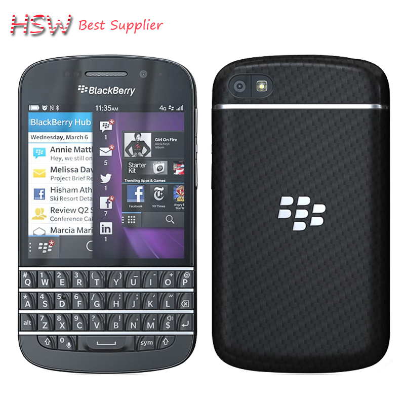 original Hot sale 100 Original Original Blackberry Q10 8MP 2GB RAM 16GB ROM 4G Network FM