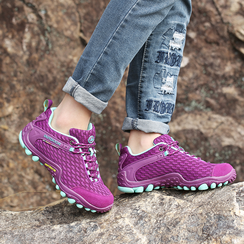 women outdoor sport camping climbing mountain hiking shoes women ladies breathable travel hunting trekking hiking shoes women