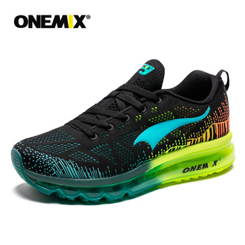 ONEMIX Men's Air Cushion Sneakers Breathable Road Running Shoes Outdoor Male Athletic Sport Walking Advanced Jogging shoes