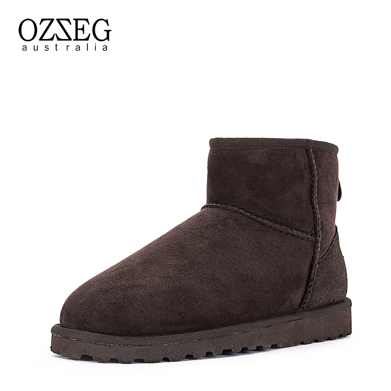 Brand Winter Snow Boots Man Ankle Boots Genuine Leather Fashion Men Winter Shoes Men Basic Winter Boots Top Quality Hand Made 2016 fashion warm genuine leather boots comfortable men winter boots quality ankle boots men winter shoes brand men s boots ok page 1