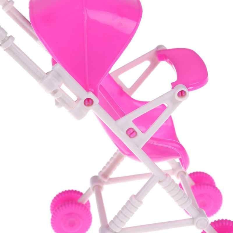 c54da800f ... Mini Pink Stroller Romantic Baby Doll Stroller Infant Carriage Trolley  Nursery Toy For Doll Accessory Girls ...