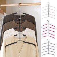 Hoomall Multilayer Fisch Knochen Form Edelstahl Kleidung Lagerung Racks Kleiderbügel Halter Kleiderschrank Wäsche Trocknen Rack|Trockengestelle|Heim und Garten -