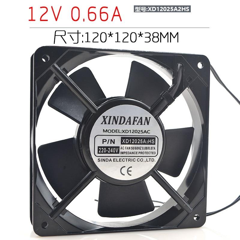 New original XD12025A2HS 12CM 220V 12025 AC aluminum frame cooling fan 12cm 12025 100v 5w mu1225s 11 inverter cooling fan
