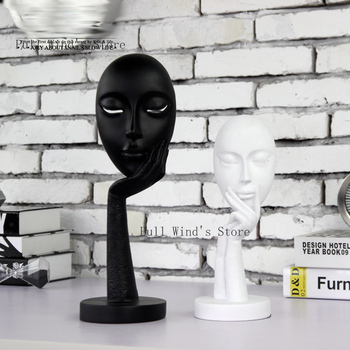 Refinement Think about life Resin Crafts Black and white series abstract decoration Office Home Decoration