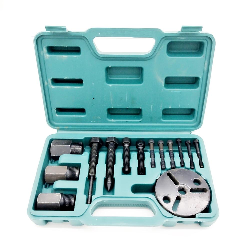 A/C R134a R12 Compressor Clutch Hub Puller Kit Remover & Installer Repair Tool SetA/C R134a R12 Compressor Clutch Hub Puller Kit Remover & Installer Repair Tool Set