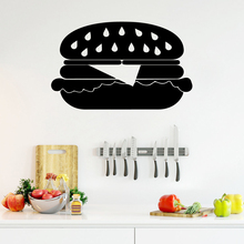 Creative hamburger Wall Art Decal Wall Art Sticker Murals Removable Wall Sticker Decoration Accessories creative home decoration girl s eyes design removable wall art sticker