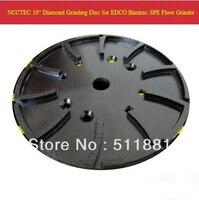 10 ''Алмаз Бетон шлифовальный диск траверса edco blastrac spe конкретные мясорубку | 250 мм цемент абразивный диск | 20 сегментов